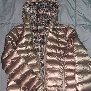 Calvin Klein down feather puffer coat reversible